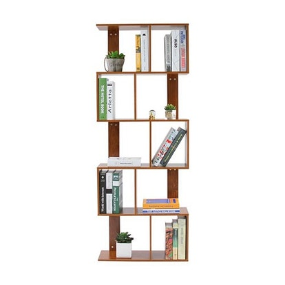 5 Tier Shelves Display Geometric Bookcase