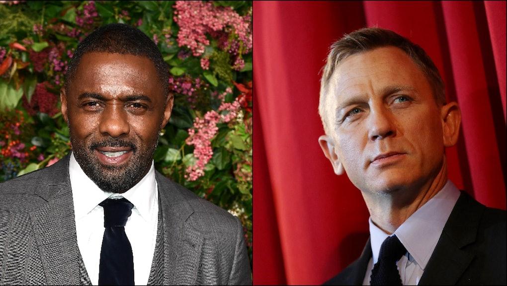 Actors Idris Elba (L) and Daniel Craig (R) are chromosomally qualified to play James Bond.