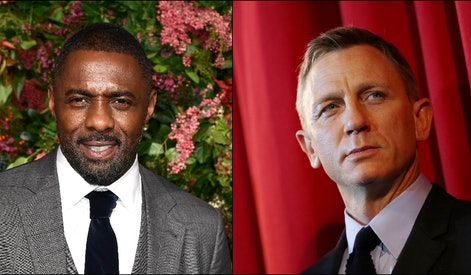 Actors Idris Elba (L) and Daniel Craig (R) are chromosomally qualified to play James Bond.