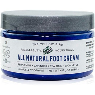The Yellow Bird All Natural Foot Cream With Essential Oils