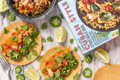Turn your favorite frozen meals into taco for a simple meal prep hack.