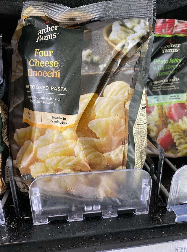 A bag of cheesy delicious gnocchi