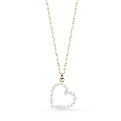 Prive Pearl Heart Necklace