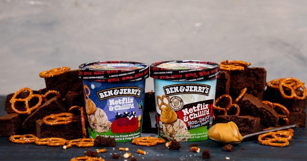 "Ben & Jerry's New ""Netflix & Chilll'd"" Ice Cream TK"