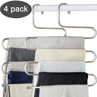 Devesanter S-Shape Pants Hangers (4-Pack)