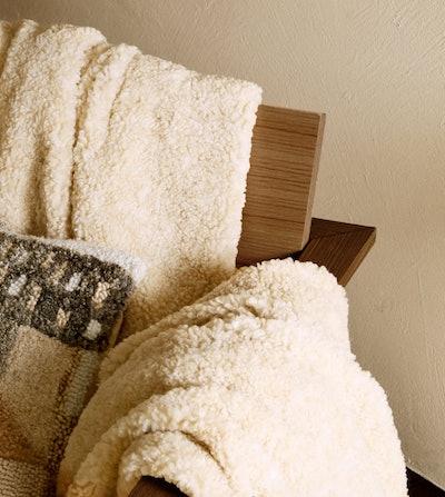 Faux Shearling Blanket