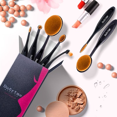Duorime Toothbrush-Style Makeup Brushes (7-Piece)