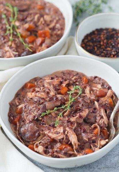 Wild rice chicken stew.