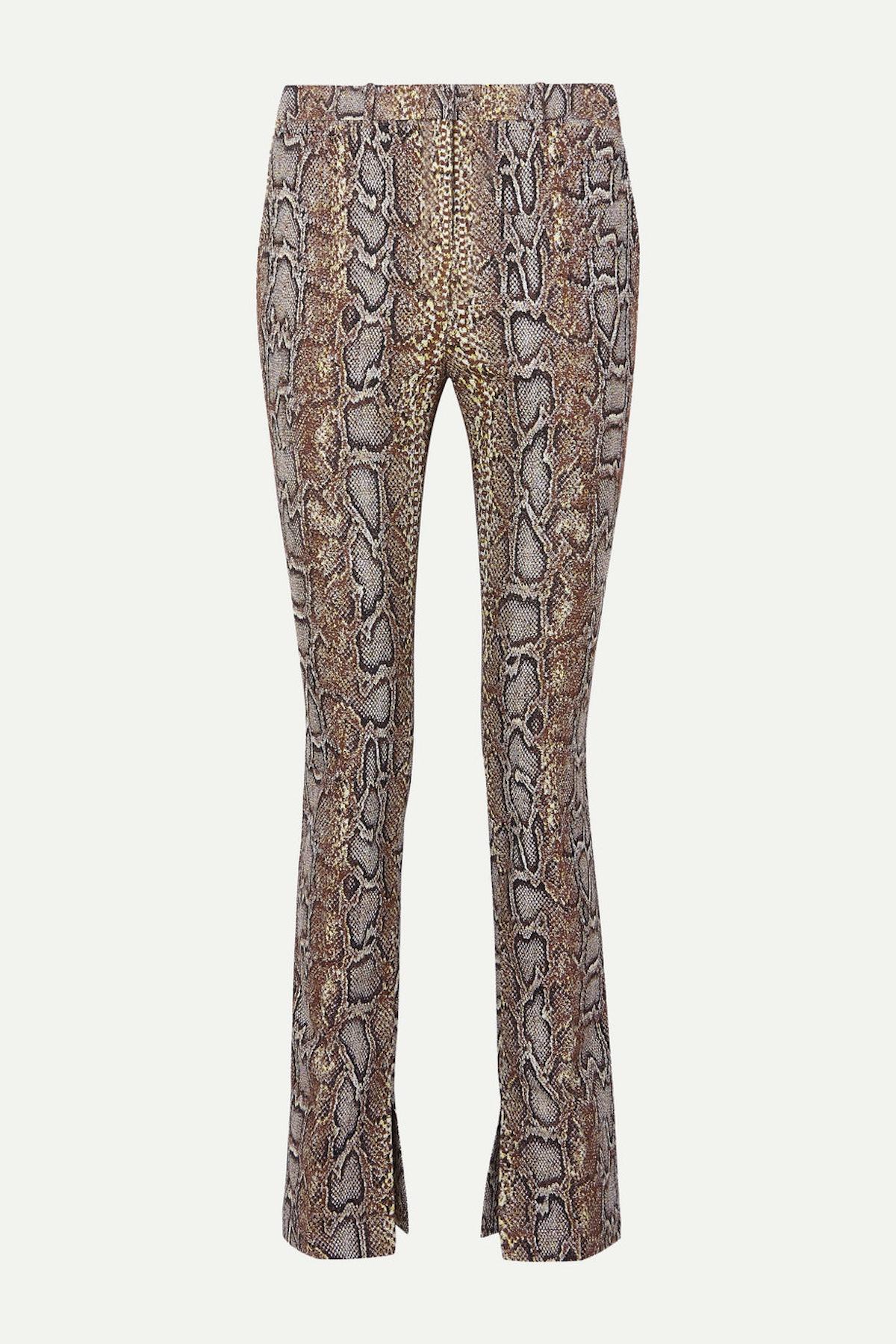 Side Split Skinny Trousers