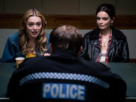 Aimee and Maeve report a crime in Sex Education Season 2.