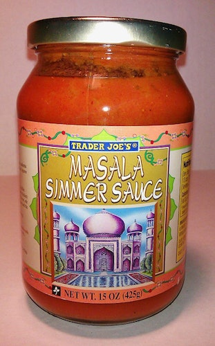 Add tofu and rice to Trader Joe's masala simmer sauce for an easy meal prep hack.