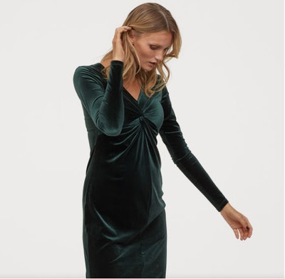 MAMA Velour Dress