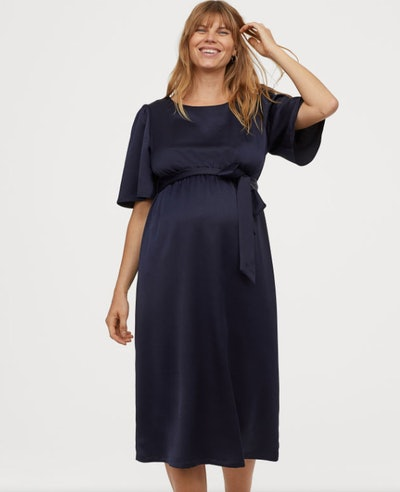 MAMA Puff-sleeved Dress