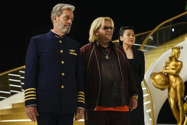 Hugh Laurie, Josh Gad, and Suzy Nakamura in 'Avenue 5'