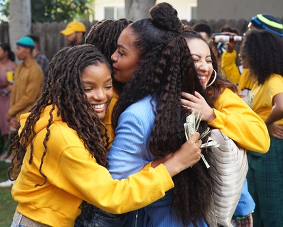 Jazz, Sky, and Ana throw Zoey a homecoming part in the grown-ish Season 3 premiere episode.