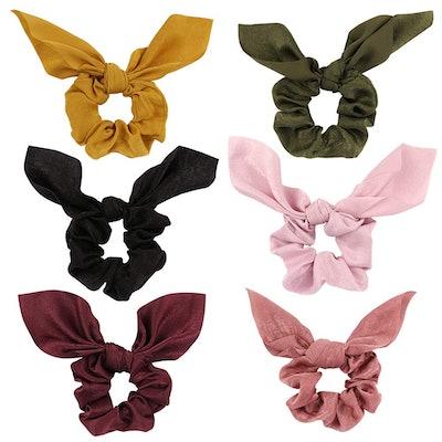 Jaciya Chiffon Bow Scrunchies