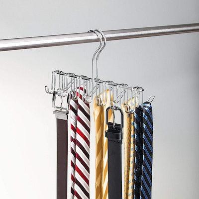 iDesign Classico Metal Tie and Belt Hanger