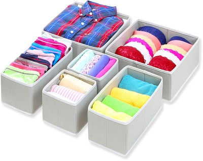 Simple Houseware Foldable Cloth Storage Boxes (6-Pack)