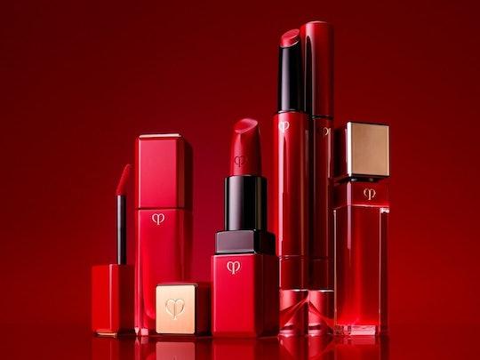 Clé de Peau Beauté's new Legend Color collection includes four formulations of one iconic red lipstick shade.
