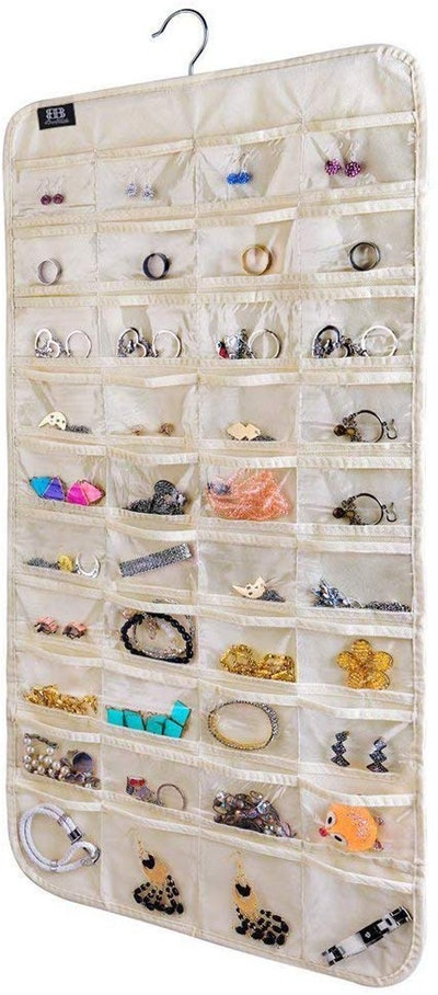 BB Brotrade 80-Pocket Hanging Jewelry Organizer