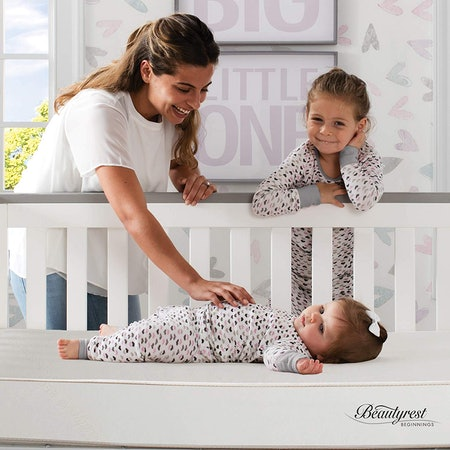 Beautyrest Beginnings Sleepy Whispers Innerspring Crib & Toddler Mattress