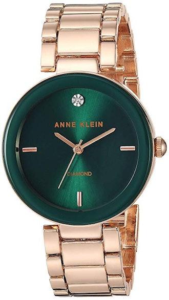 Anne Klein Genuine Diamond Dial Bracelet Watch