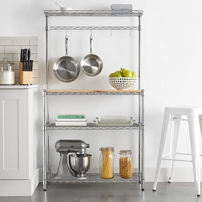 AmazonBasics Kitchen Storage Baker's Rack with Table