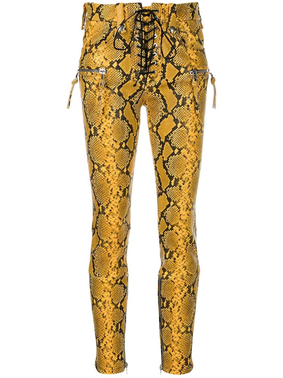 Snake Print Skinny Trousers