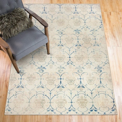 RUGGABLE Washable Stain Resistant Area Rug (5 by 7 Ft)