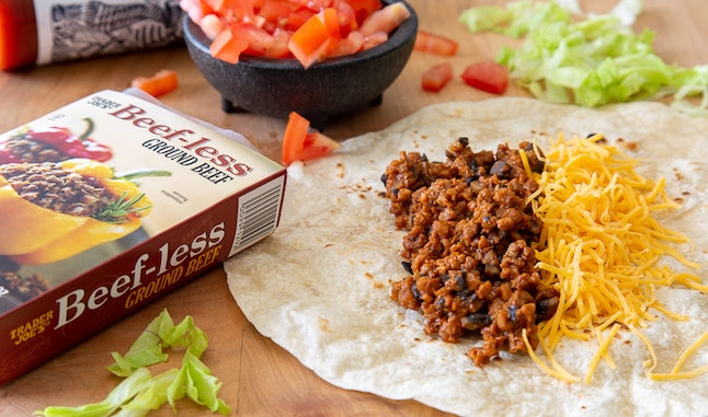 Try Trader Joe's beef-less ground beef next time you make tacos during meal prep.
