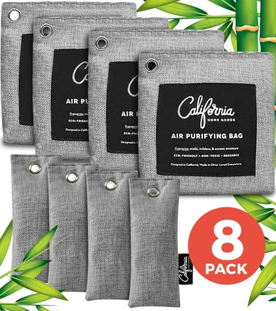 California Home Goods Bamboo Charcoal Air Purifying Bag (8-Pack)