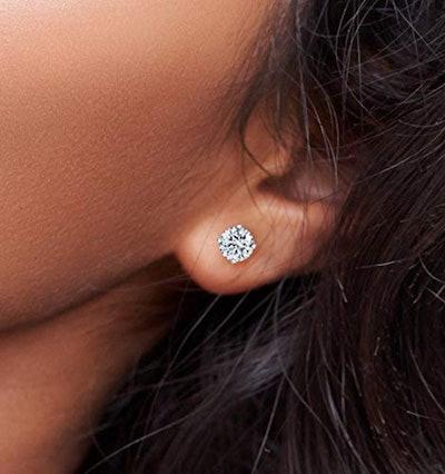 Central Diamond Center CZ Stud Earrings