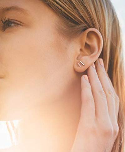 PAVOI Dainty Stud Earrings