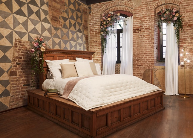 If you win Airbnb's Juliet contest, you could stay the night in this bed — an original from the set of the 1960's 'Romeo & Juliet' adaptation.