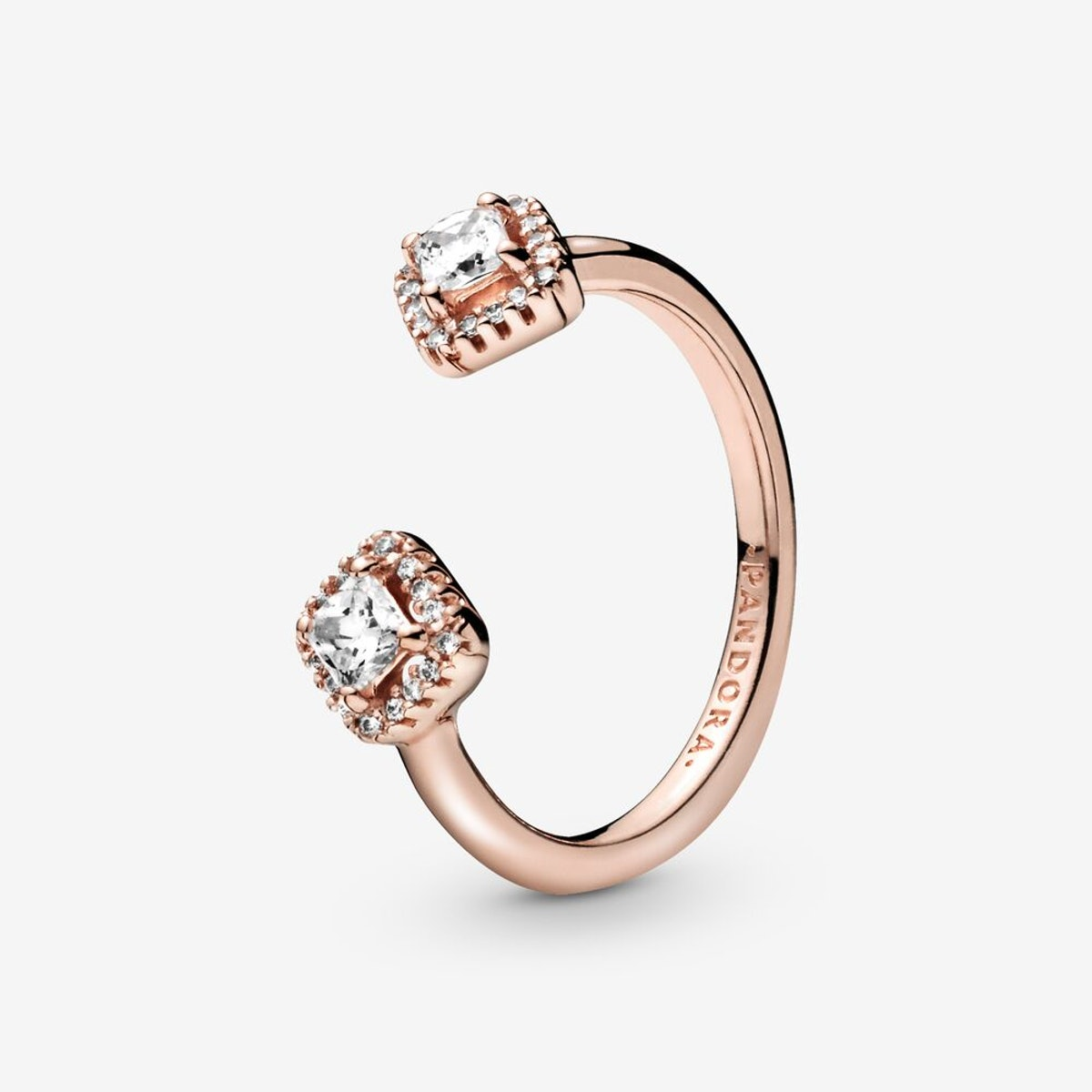 Square Sparkle Open Ring