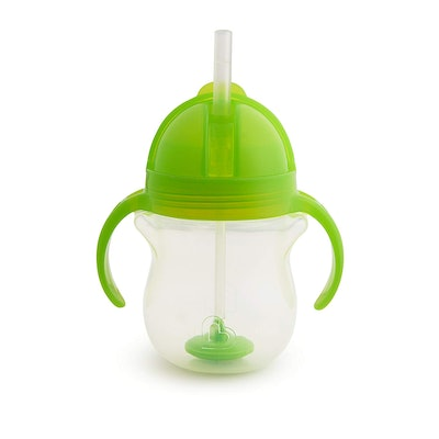 Munchkin Click Lock Weighted Straw Cup, 7 Ounces