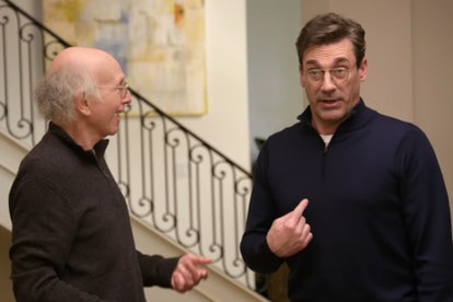 Larry David and Jon Hamm in Curb Your Enthusiasm