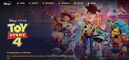 'Toy Story 4' won't be able to stream on Disney+ until Wednesday, Feb. 5.