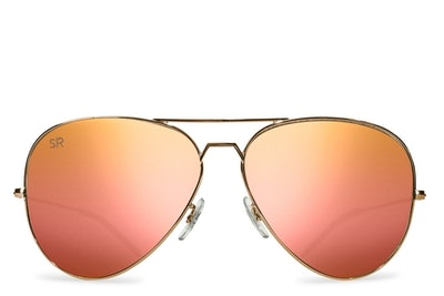 Rose Gold Polarized Aviators