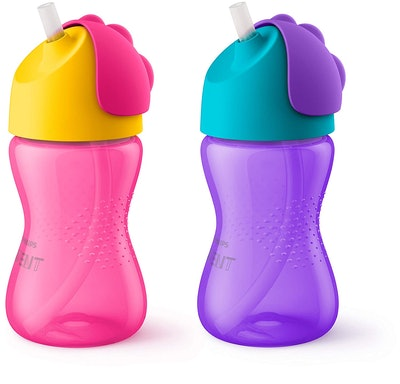 Philips Avent My Bendy Straw Cup, 10 Ounces (2-Pack)
