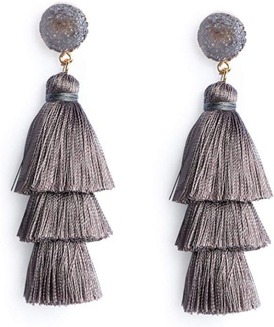 Me&Hz Colorful Layered Tassel Earrings