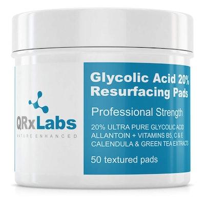 QRxLabs Glycolic Acid 20% Resurfacing Pads (50 Pads)