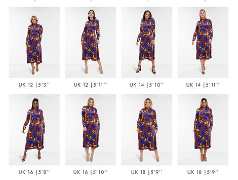 ASOS' new See My Fit tool lets shoppers see how clothes will look on a range of body sizes and heights