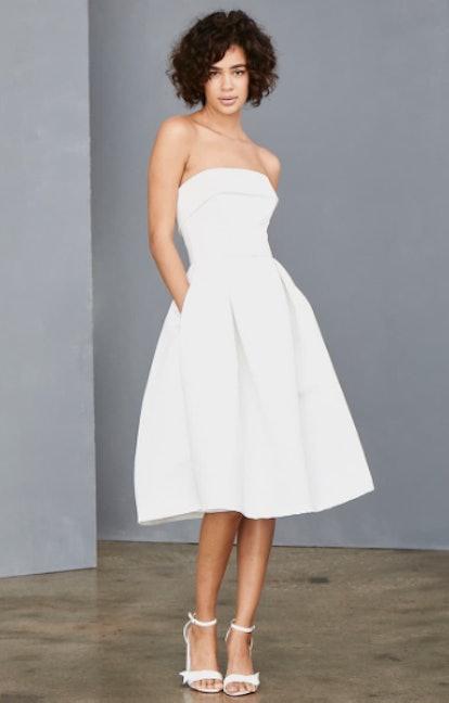 Strapless Faille A-Line Dress