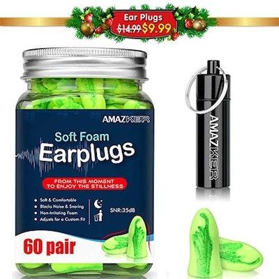 AMAZKER Ear Plugs (60 Pairs)