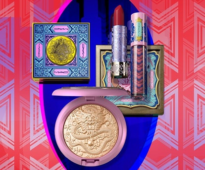 MAC Cosmetics Lunar Illusions collection's highlighter, lipstick, eyeshadow, and blush