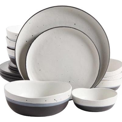 Thistle Double Bowl 16 Piece Dinnerware Set