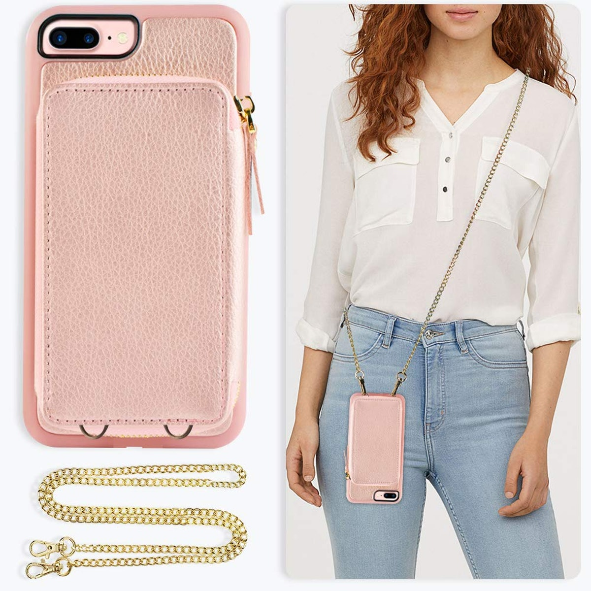 ZVE Wallet Case for Apple iPhone 8 Plus and iPhone 7 Plus