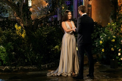 'The Bachelor's Alayah wore a duo-chrome gown.