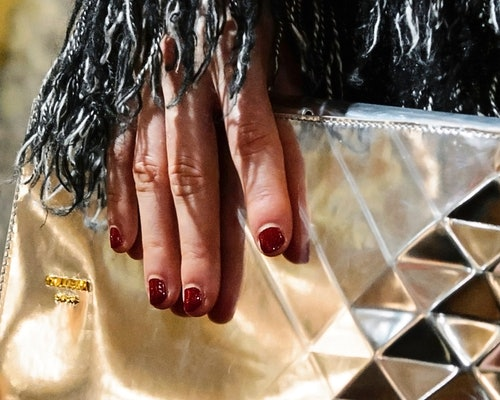Try a deep burgundy for one of your winter 2020 nail polish colors